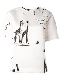 топ с жирафами Rochas