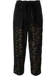 укороченные кружевные брюки Oscar de la Renta