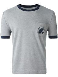 футболка с контрастной окантовкой  Moncler Gamme Bleu