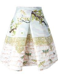 юбка с растительным принтом Piccione.Piccione