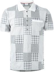 футболка поло с лоскутным дизайном Thom Browne