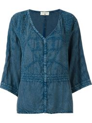 блузка c V-образным вырезом   Cotélac