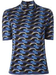 свитер с геометрическим узором Fendi