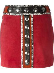 юбка мини с заклепками Roberto Cavalli