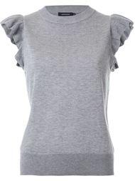 ruffle detail sleeveless knitted top Loveless
