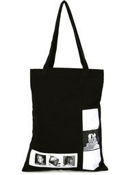 сумка на плечо с фото-заплатками Rick Owens DRKSHDW