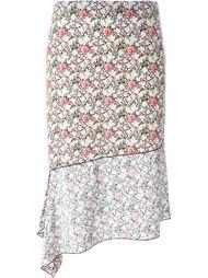 юбка с цветочным принтом   Joseph