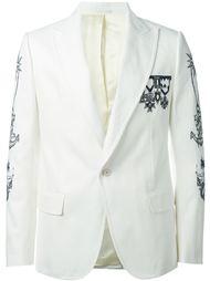 блейзер с вышивкой Alexander McQueen