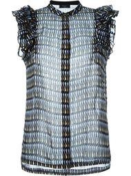 блузка с оборками  Paul Smith Black Label