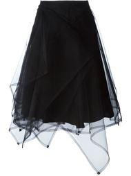 асимметричная тюлевая юбка Comme Des Garçons Noir Kei Ninomiya