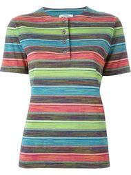 полосатая футболка с воротником-хенли Missoni Vintage