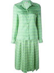 юбочный костюм с мелким узором Hermès Vintage
