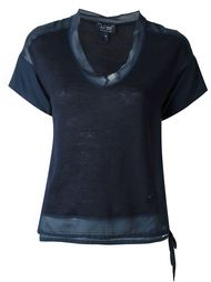 блузка с прозрачным подолом  Armani Jeans