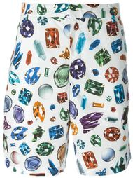 jewel print shorts Moschino