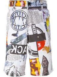 шорты с графическим принтом KTZ