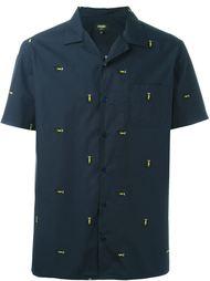 рубашка с вышивкой ламп Fendi