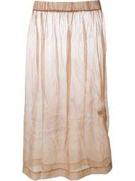 прозрачная юбка  Uma Wang