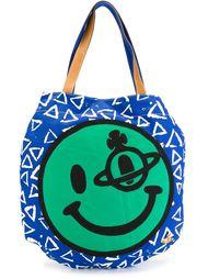 сумка-тоут с принтом смайлика Vivienne Westwood Anglomania