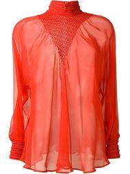 прозрачная блузка  Fendi