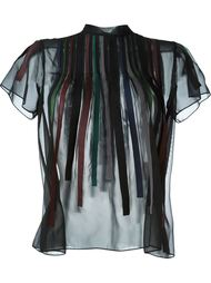 прозрачная блузка с полосками Kolor