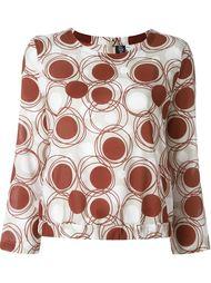блузка с принтом в горох Eleventy
