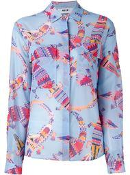 рубашка с принтом крокодилов MSGM