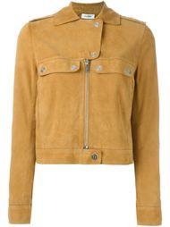 замшевая байкерская куртка Courrèges