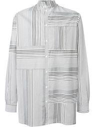 полосатая рубашка с воротником-стойкой Odeur