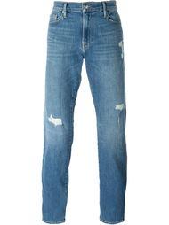 джинсы с потертой отделкой Frame Denim