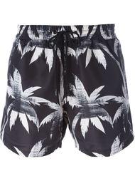 шорты для плавания с принтом пальм Paul Smith