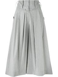 укороченные брюки в тонкую полоску J.W. Anderson