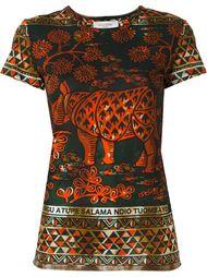 футболка с принтом носорога  Valentino
