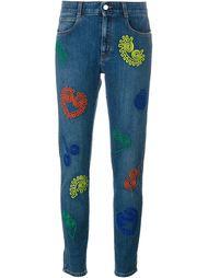 джинсы кроя слим  с вышивкой  Stella McCartney