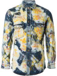 джинсовая рубашка с абстрактным принтом James Long