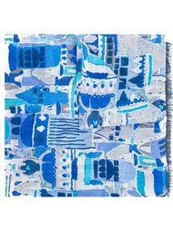 шарф с абстрактным принтом Kiton