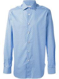 рубашка с геометрическим принтом Kiton