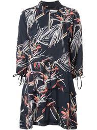 многоярусное платье-рубашка с принтом Maiyet