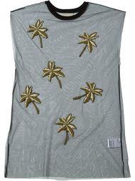 футболка с вышивкой пальм Laneus