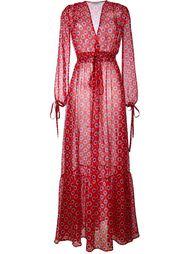 прозрачное длинное платье с узором в горох Au Jour Le Jour