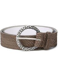 snakeskin effect belt Orciani
