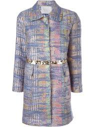 однобортное пальто с аппликацией  Giada Benincasa