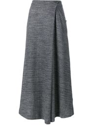 Cotton Asymmetric Wrap Skirt 1205