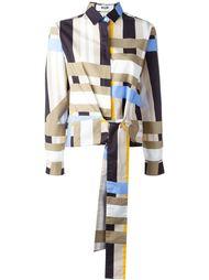рубашка с панельным дизайном MSGM