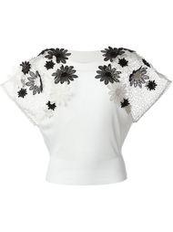 блузка с аппликацией  Emanuel Ungaro