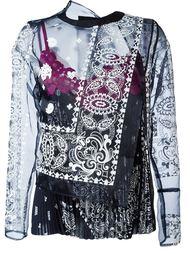прозрачная многослойная блузка  Sacai