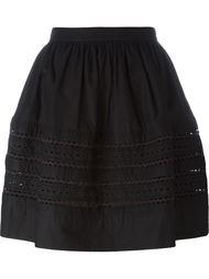 расклешенная короткая юбка с оборками Red Valentino