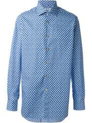 рубашка с мелким узором Kiton
