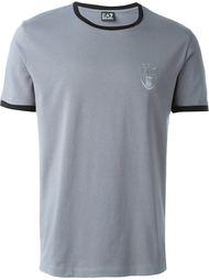 футболка с контрастной окантовкой  Ea7 Emporio Armani