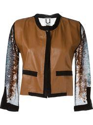 куртка с сетчатыми рукавами в пайетках Aviù