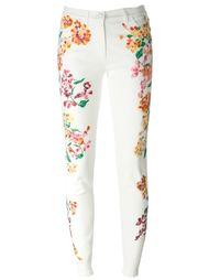 джинсы с цветочным принтом   Versace
